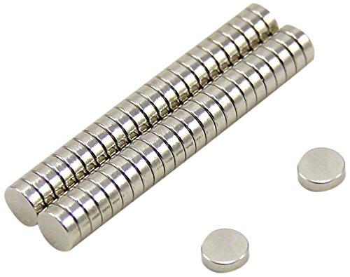 First4magnets 5 mm Durchmesser, 1,5 mm dicker N42-Neodym-Magnet 50 Stü ck-Packung, SP515-50