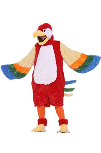 [8eighteen Plush Parrot Mascot Adult Costume] (Parrot Costume Wings)