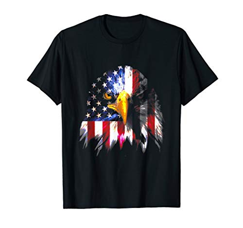 American Flag Bald Eagle 4th of July Patriotic Freedom USA T-Shirt ()