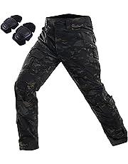 FOJMAI Vrouwen Mens airsoft broek paintball BDU Ripstop broek multi-pocket combat tactische broek met knie pads