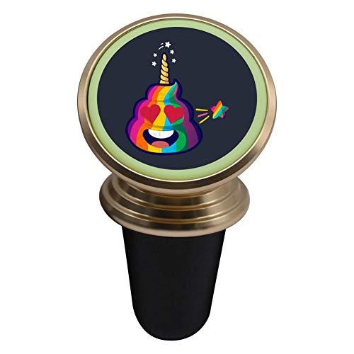 Mini Magnetic Car Mount Holder 360? Rotation Cradle for Phones Functional Night Light - Heart Eyes Poop ()