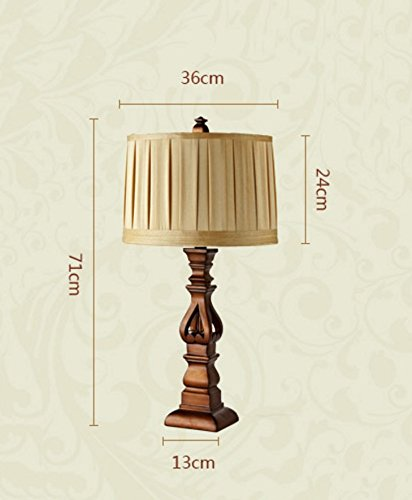 HH European luxury retro style desk lamp bedroom bedroom bed cloth lighting ( Size : L ) by FJB (Image #3)