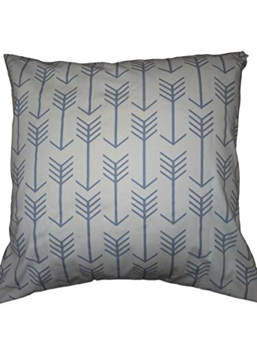 Euro pillow Slate blue arrows Pillow Cover. large bed Throw Pillows, Wedgwood blue pattern Toss Pillows. square Cushion. Bed dorm. Pillow Cover. Pillow Sham 26