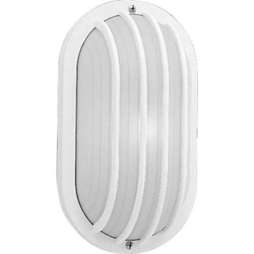 Progress Lighting P5705-30 Polycarbonate Light Mounted On Walls Only Indoors or Outdoors with No Color Fade, White