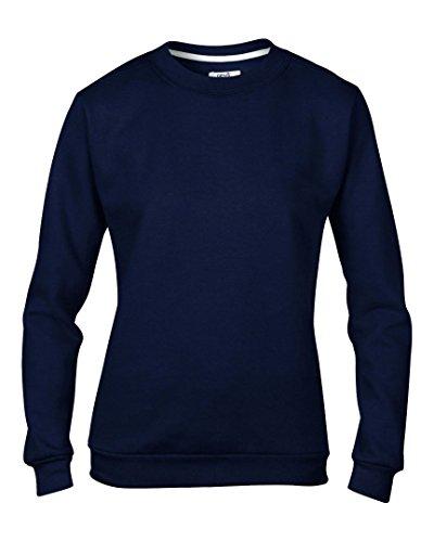 Yunque de la mujer set-in-sweatshirt azul marino