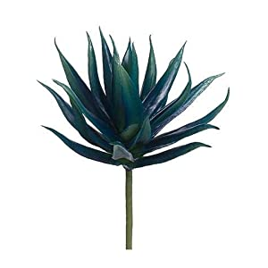"1pc, Artificial Aloe Succulent Pick in Navy & Teal - 10"" Wide 42"