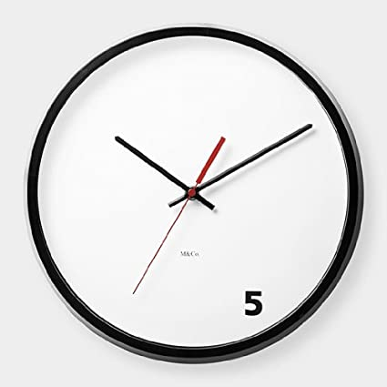 5 o clock reloj de pared Moma exclusivo