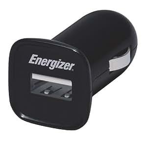 Energizer PC-1CAT Auto Negro - Cargador (Auto, Teléfono móvil, MP3, Tableta, Encendedor de cigarrillos, Apple iPad, iPhone, iPod, Contacto, Negro)