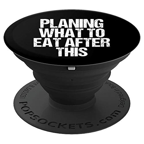 Planing What To Eat After This Fitness Funny Food Lover Gift - PopSockets Grip and Stand for Phones and Tablets (Best Food To Eat After Yoga)
