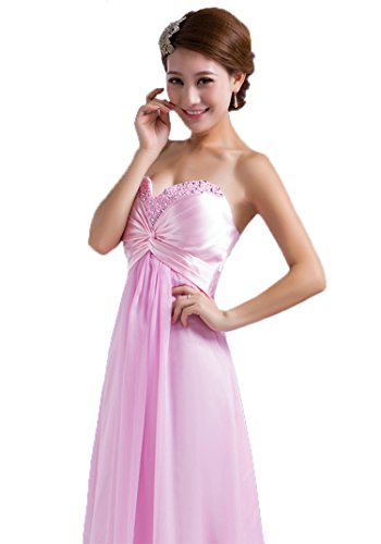 Vantexi Damen Chiffon Lange Perlen Abendkleid Ballkleid ...