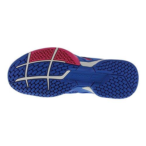Babolat Zapatillas de Tenis de Material Sintético Para Mujer Multicolor Princess Blue/Fandango Pink