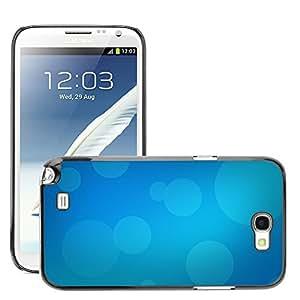Super Stellar Slim PC Hard Case Cover Skin Armor Shell Protection // M00050071 blue aero bokeh // Samsung Galaxy Note 2 N7100