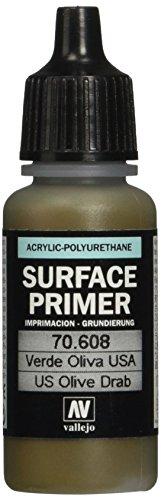 Vallejo US Olive Drab Acrylic Polyurethane, 17ml