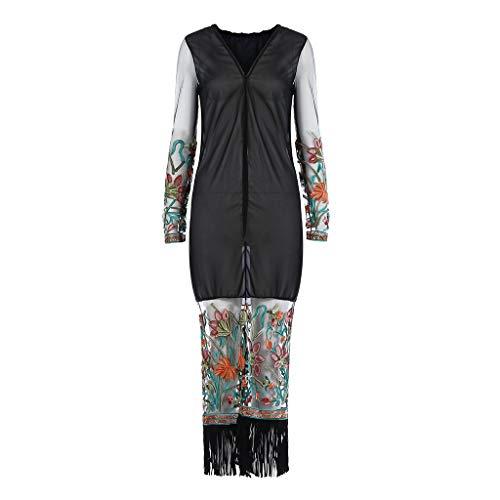 60% AUS Yooshen Böhmischer Stil Spitze Kimono Beach Langer