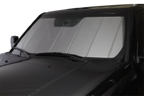 Covercraft UVS100 - Series Heat Shield Custom Windshield Sunshade for Ford Excursion/Super Duty (Laminate Material, Silver) - Excursion Beach Cooler
