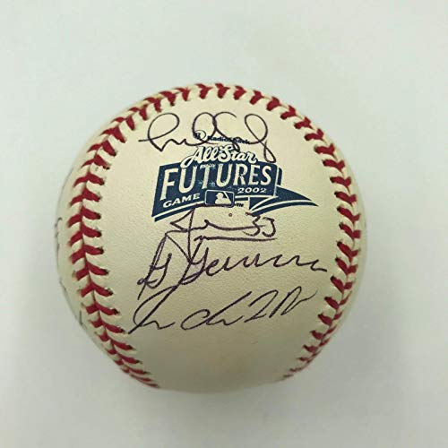 2002 All Star Futures Game Team Signed Baseball Justin Morneau MLB Authentic