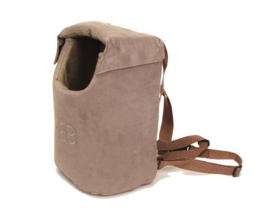Petego Velvety Lenis Front/Backpack Pet Carrier, Large, Stone/Sage (Lenis Pet Carrier)