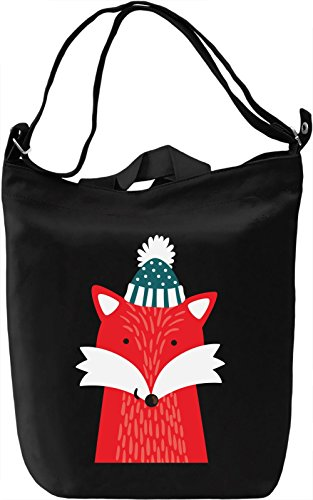 Winter Fox Borsa Giornaliera Canvas Canvas Day Bag| 100% Premium Cotton Canvas| DTG Printing|