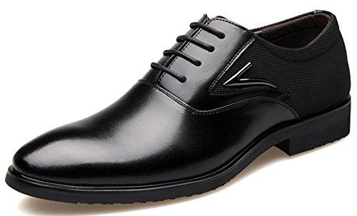 Zapatos Black Cuero De Vestir 39 Hombre Para Negocios Mlsopx Transpirables dSw8Zxqd