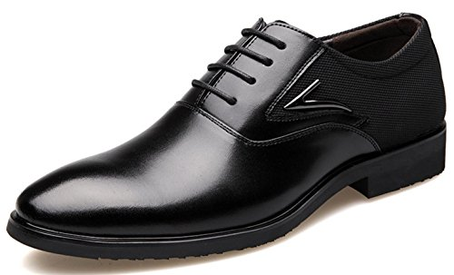 Zapatos De Vestir Negocios 39 Black Cuero Mlsopx Hombre Transpirables Para 7nqxvqCwT