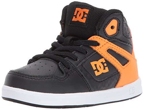 DC Shoes DC Youth Rebound Skate Shoe, Orange/Black, 9 M US Toddler (Dc Dyrdek Skate Shoes)