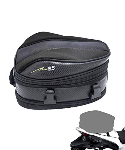 (Motorcycle Tail Bag, Meago Multifunctional Sport Seat Bag Nylon Luggage Bag Motorbike Back Seat Bag Tear-Resistant Motorbike Accessories Bag for Universal Fit,15 Liters)