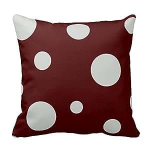 Gray and Black Polka Dots Throw Pillow Case Shell Decorative Pillowcase 18 X 18
