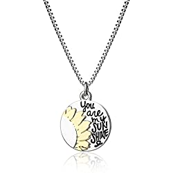 Inspirational Necklace for Women Teen Girls Fashion Jewelry Pendant - You Are My Sunshine - Prime Gifts