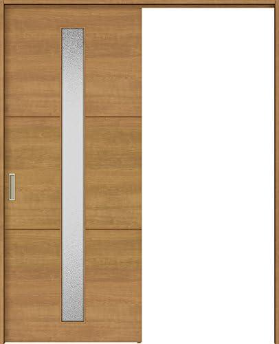 ラシッサS 上吊引戸 片引戸標準 ASUK-LGD 1420J 錠付 W:1,454mm × H:2,023mm ノンケーシング 本体/枠色:クリエモカ(MM) 勝手:右勝手 枠種類:95mm幅(ノンケーシング枠) 引手(シャインニッケル) 床見切り:なし 機能:ブレーキ プッシュ錠:表示錠(シャインニッケル) 錠加工位置:標準位置 LIXIL リクシル TOSTEM トステム