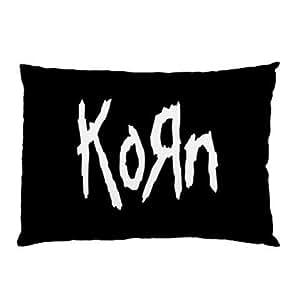 Amili Custom Cotton & Polyester Custom Zippered pillowcase -Korn Pillow Case Two Side Cover Rectangle Pillowcases