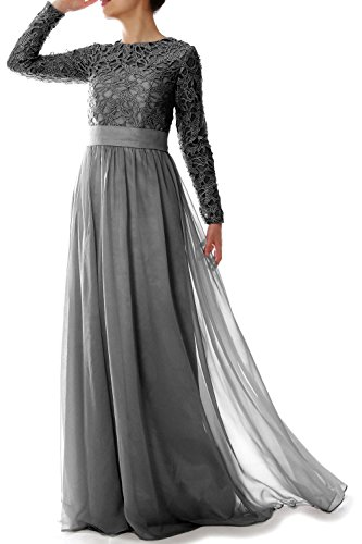 MACloth Women Long Sleeve Lace Chiffon Mother of Bride Dr...