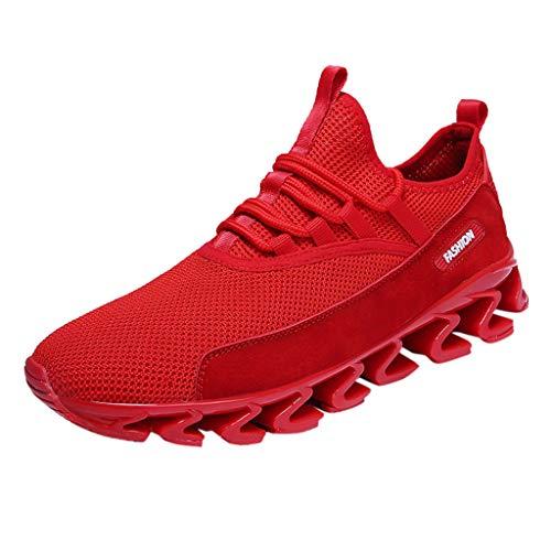 Shoes Running Da Ginnastica Sports Breathable Uomo Maschi Slittamento Sportive Fashion Sneakers Rosso Antiscivolo Stringate Mountaineering Scarpe Corsa Outdoor Beladla up Travel Lace Anti qw6ngOE