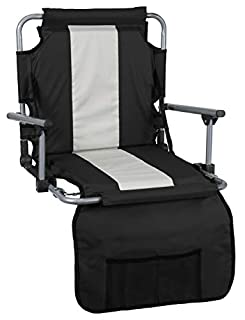 Groovy Stansport Folding Stadium Seat With Arms Cushion Ibusinesslaw Wood Chair Design Ideas Ibusinesslaworg