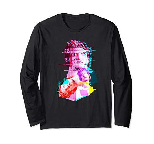 Helios Statue Aesthetic Vaporwave 80s 90s Glitch Art T-Shirt Long Sleeve T-Shirt