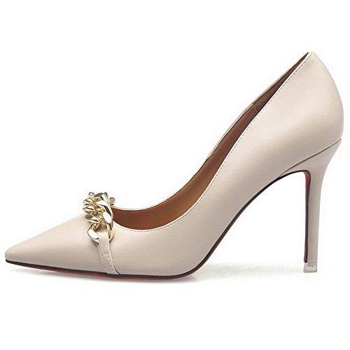 A-talloni Da Donna A Tacco Alto, Scarpe Con Tacco A Punta E Scarpe Con Albicocca-7cm Di Diamanti