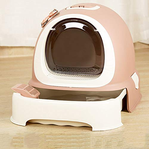 Cat Litter Boxes Fully Enclosed Design, Cat Toilet Large Size with Rim Tray Box, Dog Litter Boxes Charcoal Filter Deep, Cat Litter Toilet Spacious Interior Easy to ()