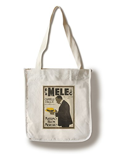 mele-and-ci-cappelli-paglie-vintage-poster-artist-laskoff-italy-c-1902-100-cotton-tote-bag-reusable