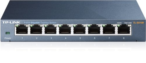: TP-Link 8-Port Gigabit Ethernet Network Switch | Sturdy Metal w/ Sheilded Ports | Limited Lifetime Replacement | Unmanaged (TL-SG108)