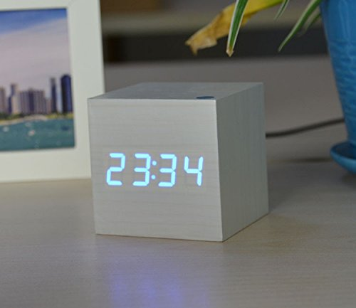 Price comparison product image RUGAI-UE alarm clock student design bedroom beside led alarm clock, E