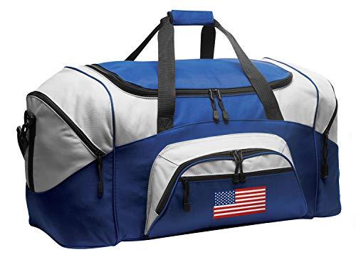 USA Flag Suitcase Duffel Bag Large American Flag Duffle USEFUL Gift Idea!
