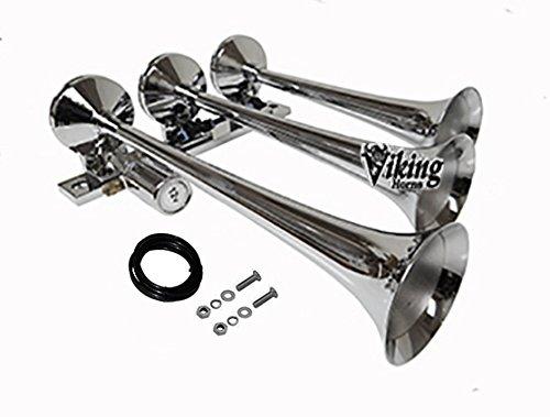 Horns Chrome V1007 Chrome 3 Trumpet Loud 149dB TRAIN SOUND Air Horn