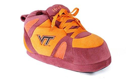 (VTI01-2 - Virginia Tech Hokies - Medium - Happy Feet Men's and Womens NCAA Slippers)