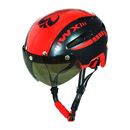 Fahrradhelm Helm,Abnehmbare Schutzbrillen integrierte Formtechnologie Sicherheitsschutz Hochwertiges EPS-Insektenschutzfutter