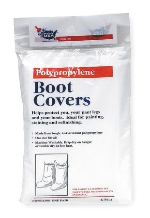 Boot Covers, Universal, White, PR Pack of 10
