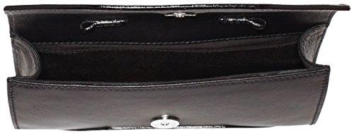 kaviar gauche Envelope Clutch Classic W. Chain - Bolso bandolera Mujer Negro - Schwarz (black/silver)