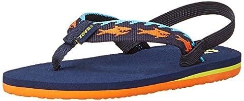 Teva Mush II Flip Flop Sandal (Toddler), Blue, 4 M US Toddler (Kid Teva Flip Flops)