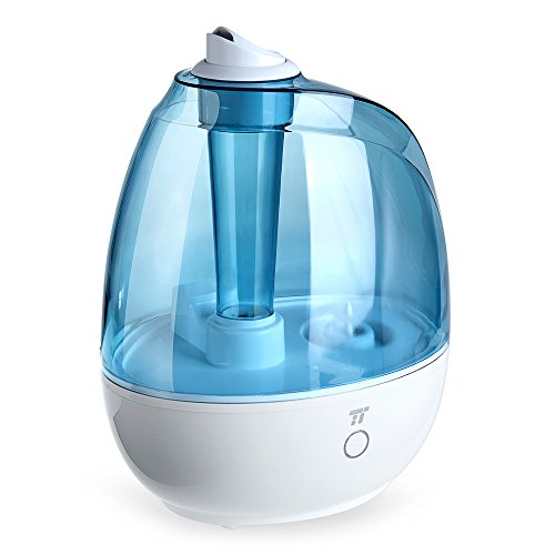 TaoTronics Humidifier, 2L Cool Mist Ultrasonic Humidifiers for Babies Bedroom, Zero Disturb Sleep Mode, Filter Free and Whisper Quiet, BPA FREE- US Plug 110V