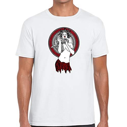 Dapper Outfits Sport T Shirt to Matching Air Foamposite One Snakeskin Foam Medusa White XXX-Large]()