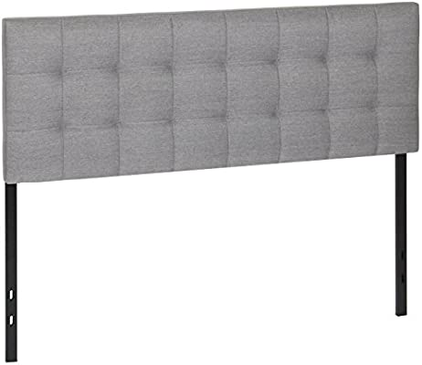 Best Choice Products Upholstered Tufted Fabric Queen Headboard Gray