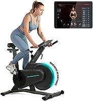OVICX Bicicleta estática magnética de ejercicio para el hogar con Bluetooth para espacio pequeño